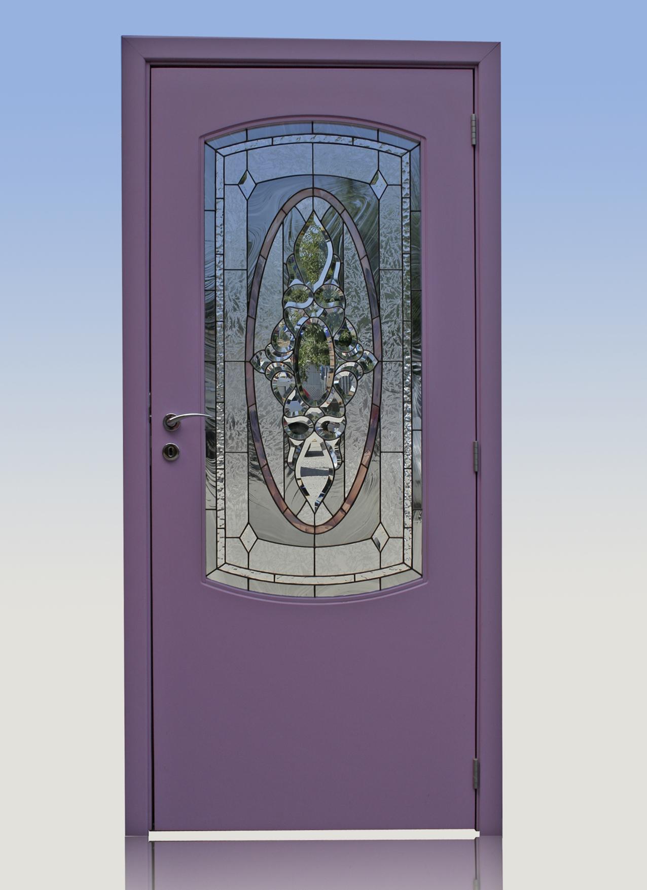 Интериорна врата от МДФ с пигментен лак. С възможност за над 20 000 цвята.